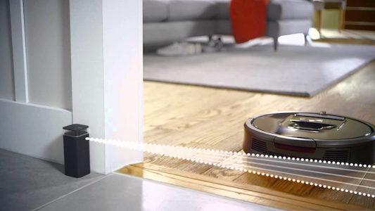 Muro virtuale robot aspirapolvere