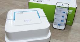 modello di robot lavapavimenti con navigazione smartphone