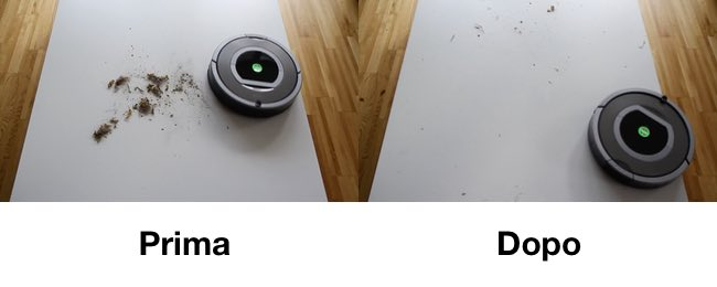 prestazioni pulizia roomba 780